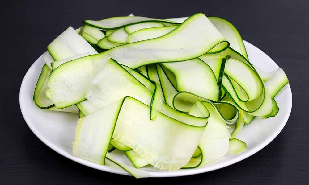 Ergebnis Zoodles mit Gemüseschäler