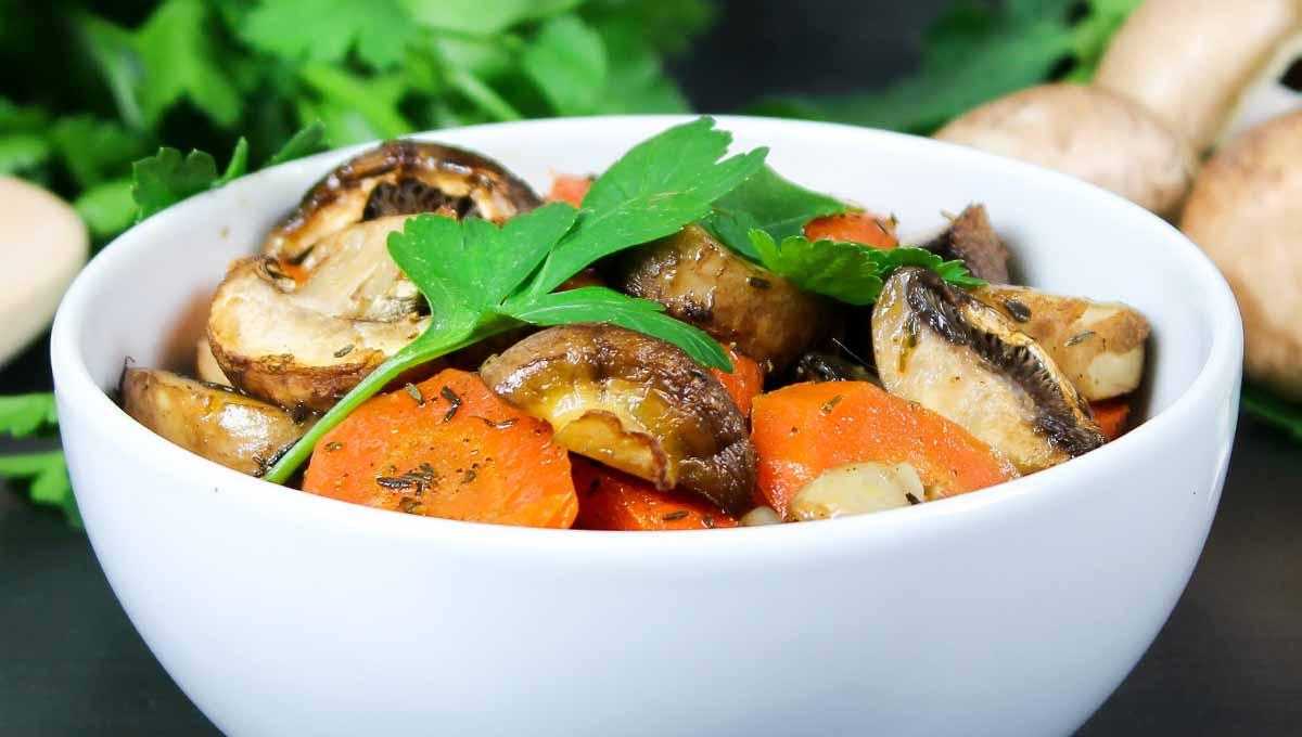 Champignon-Backofen-Gemüse