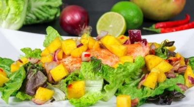 Mango Lachs Salat