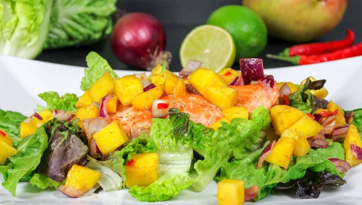 Mango-Lachs-Salat