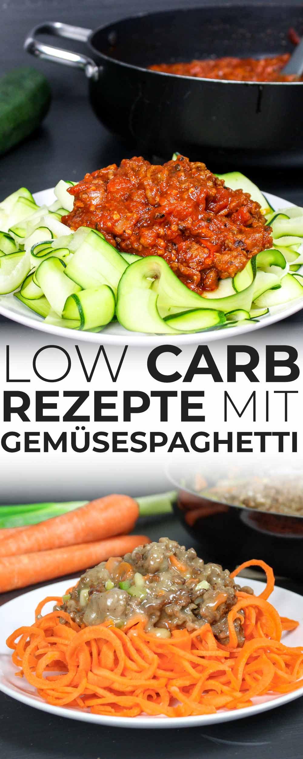 Low Carb Rezepte mit Gemüsespaghetti
