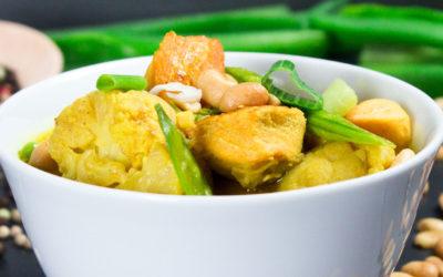 Curry-Blumenkohlsuppe mit Lachs
