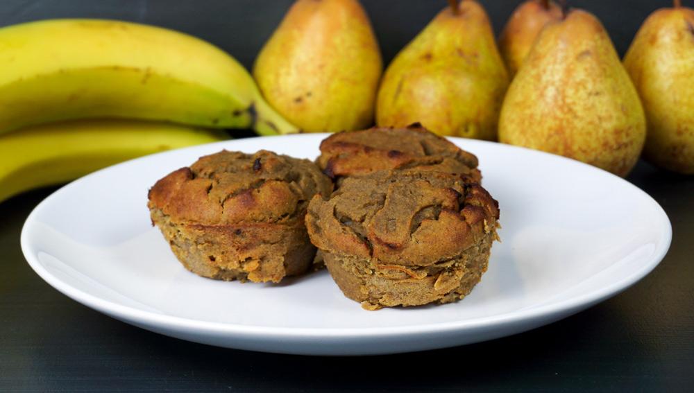 Saftige Bananen-Birnen-Muffins