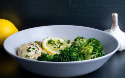 Zitronenhähnchen mit Brokkoli