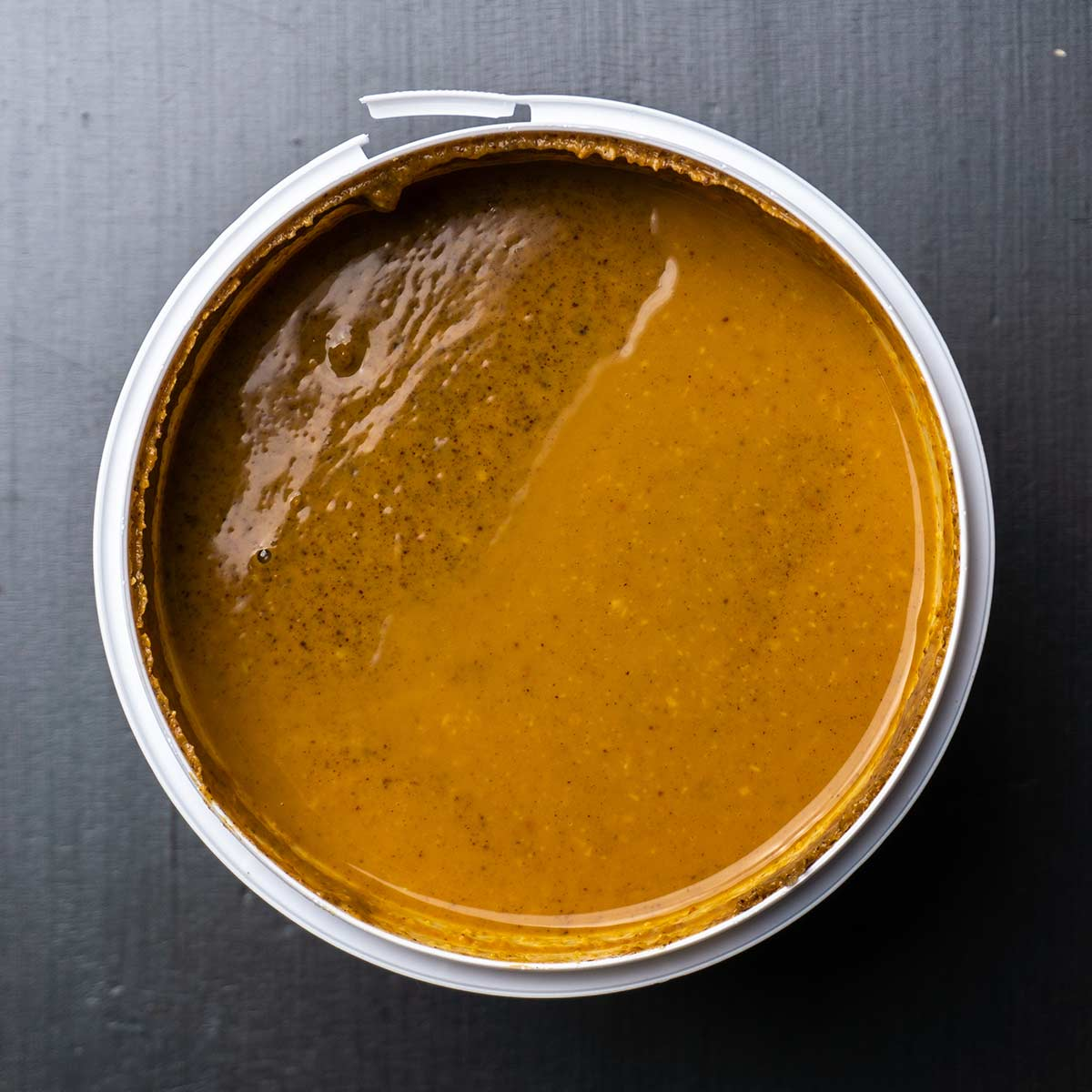 Myprotein Erdnussbutter vor dem Rühren